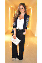 Zara blazer - Guess shirt - Posse bag