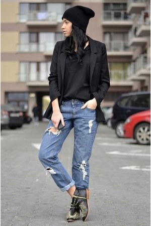 Zara shoes - Zara jeans - Zara hat - H&M blazer