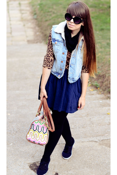 H&M vest - Accessorize bag - Zara skirt
