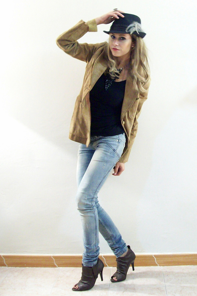 Brown Vanity Jackets Black Zara Woman Ts Shirts Brown A