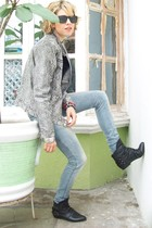 silver One Step Up jacket - black Zara shoes