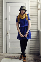 mustard Heart Boutique scarf - tawny suede booties Amazon boots