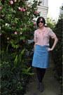Black-target-tights-vintage-glasses-cotton-vintage-blue-skirt-silk-pink-vi