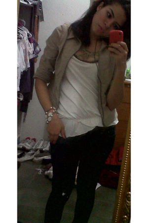 accessories - Diesel jeans - beige quarry jacket - beige DKNY blouse
