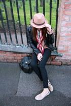 Topshop jeans - River Island hat - BLANCO bag - Topshop flats - Zara jumper