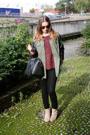 Primark boots - Topshop jeans - River Island jacket - black Givenchy bag