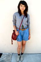 Sparkle and Fade sweater - ecote shorts - the sak bag accessories - vintage shoe