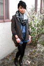 Silence-noise-blazer-we-who-see-boots-deena-ozzy-scarf-h-m-shirt-lev