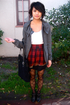 f21 jacket - H&M blouse - UO skirt - Givenchy Bag accessories - Deena & Ozzy sho