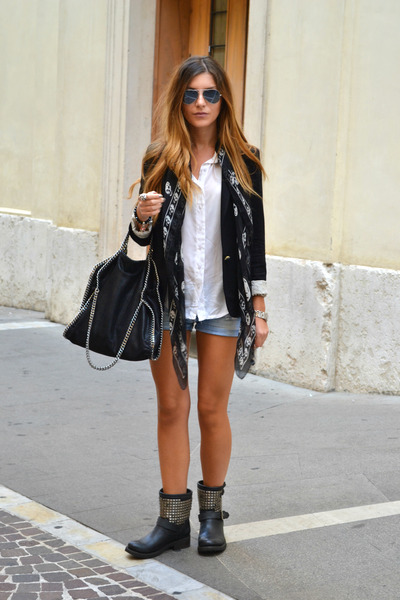 ASH boots - Zara blazer - Stella McCartney bag