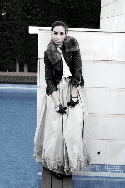 Armani Exchange jacket - Zara boots - Claires gloves - marchesa skirt