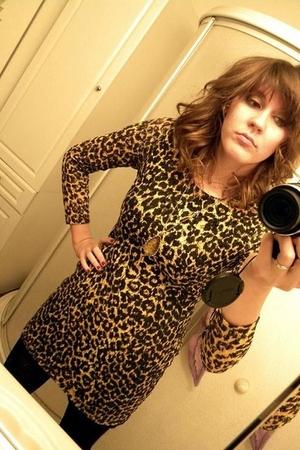 gold Rodarte for Target dress - gold Forever21 necklace - black Sketchers boots