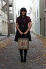 Black-vintage-skirt-crimson-vintage-blouse-beige-vintage-bag-black-h-m-dre