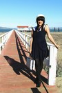 Navy-vintage-dress-white-vintage-hat-black-american-apparel-tights-navy-vi