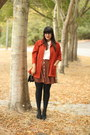 Carrot-orange-vintage-jacket-black-american-apparel-tights-black-coach-bag