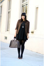 Black-buffalo-exchange-dress-dark-brown-vintage-blazer