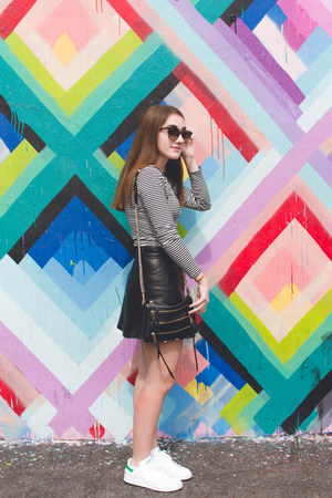 black LF shirt - black Rebecca Minkoff bag - brown Celine sunglasses