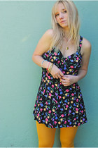Floral-print-vintage-dress