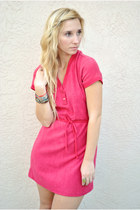Ruby-red-terry-cloth-vintage-dress