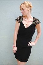 Black-80s-beaded-vintage-dress