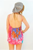 Pink Vintage Tops Gray Beanie Hats Blue H&M Skirts