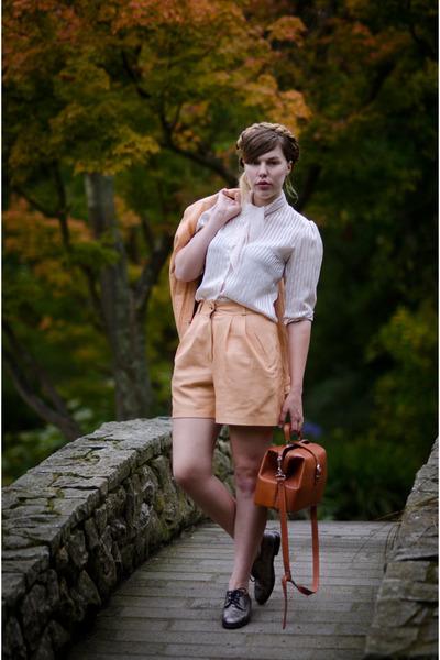 tawny doctors bag Golden Ponies bag - eggshell thrifted vintage blouse