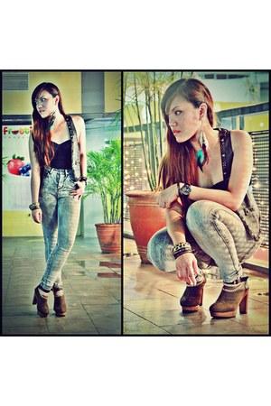 Forever 21 jeans - suede booties Supersale Bazaar boots