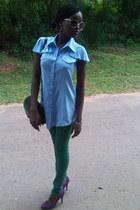 green mishka jeans - maroon Fioni shoes - black chiltern bag