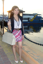 jack and jill top - reconstructed skirt - blazer - clarithas belt - isumi shoes