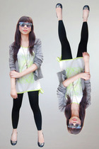 top - leggings - alex wung blazer