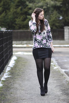 black New Yorker dress - bubble gum New Yorker sweater - black H&M heels