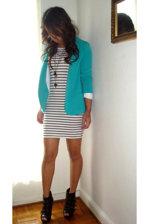 white H&M dress - Silence&Noise jacket - Forever 21 shoes