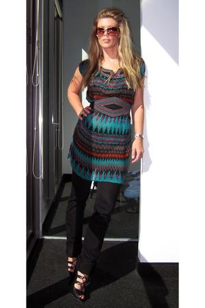 Ruche dress - J Brand jeans - Boutique 9 shoes