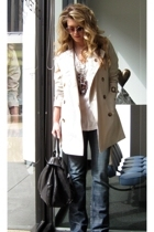 Burberry jacket - Antik Jeans jeans - DKNY t-shirt - Marc by Marc Jacobs purse -