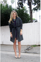 Vintage wool coat coat - vintage dress - Marc by Marc Jacobs shoes - Jami Rodrig