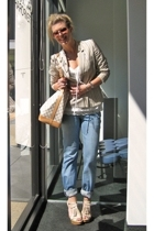 Levis jeans - Sasson blazer - vintage blouse - Louis Vuitton purse - Pour La Vic
