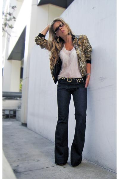 black Red Monkey Designs belt - blue j brand lovestory jeans