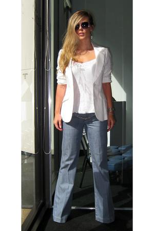 vintage blazer - old top - calvin klein jeans - Marc by Marc Jacobs sunglasses -