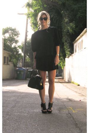 black Ronnie Heller for MJ dress - black Pour La Victoire shoes