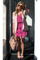 AKA ny dress - Kasper for ASL blazer - Zac Posen purse - Jessica Simpson shoes
