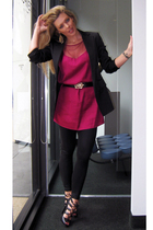 cynthia vincent giltcom dress - basic NY vintage blazer - vintage belt - Boutiqu