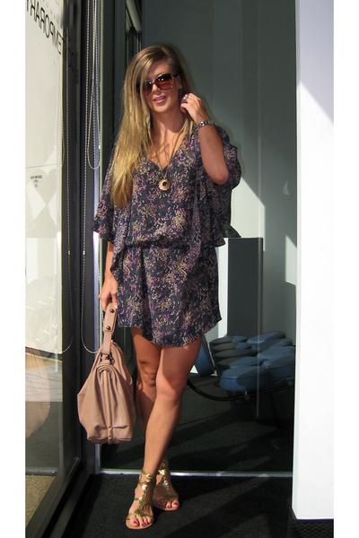 gold Alloycom shoes - purple vintage dress