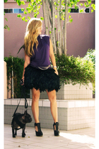 black feather skirt I made it DIY on my blog tomorrow skirt