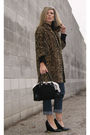 Brown-vintage-leopard-coat-coat-blue-calvin-klein-jeans-black-steven-by-stev