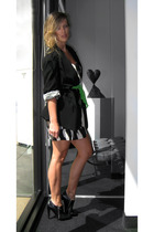 vintage blazer - forever 21 dress - vintage belt - Jessica Simpson boots