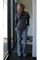 BCBGMAXAZRIA sweater - forever 21 shirt - calvin klein jeans - Oscar de la Renta