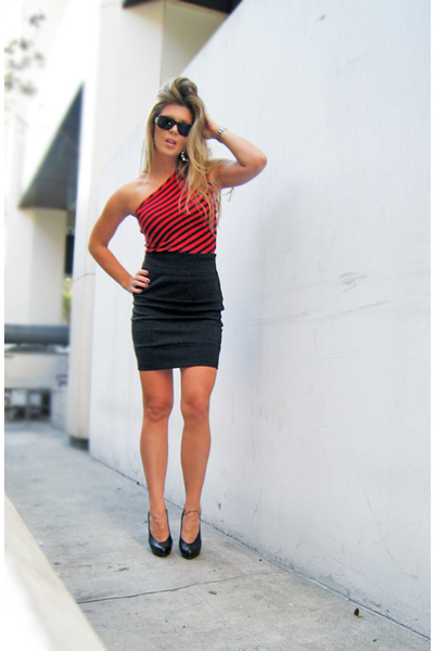 BB Dakota chickdowntowncom skirt - vintage was my moms top - Christian Louboutin