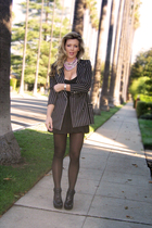 black striped blazer Ungaro -vintage blazer - black Velvet Angels shoes