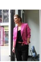 merona target blazer - Oscar de la Renta pants - forever 21 t-shirt