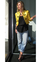 Louisa Zee Vintage jacket - Levis jeans - no brand dress - Boutique 9 shoes